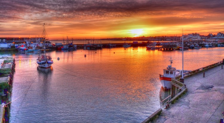 Bridlington Harbour at Sunset