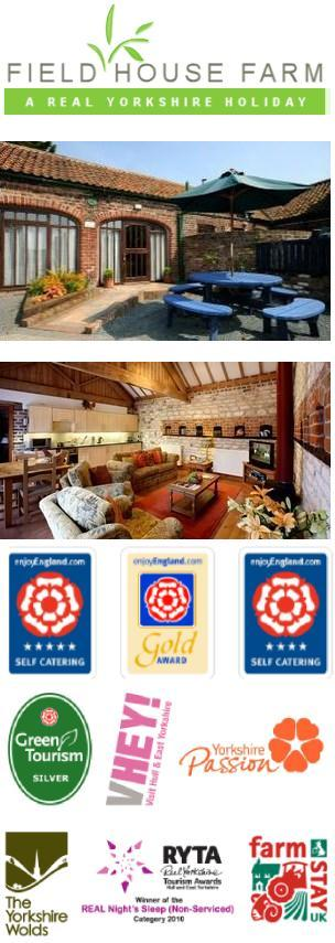Yorkshire self-catering holiday cottages at Field House Farm, East Yorkshire