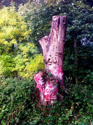Woldgate Totem Vandalised